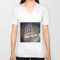floyd V-neck T-shirts featuring Pink Floyd by Emma.B