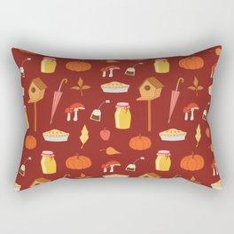 Autumn pattern wine red background Rectangular Pillow