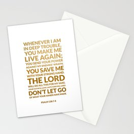 Psalm 138:7-8 Stationery Cards