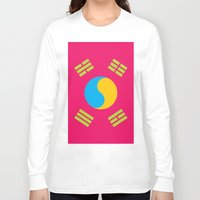 korea Long Sleeve T-shirts featuring Neon Nation SOUTH KOREA by T.K.O.