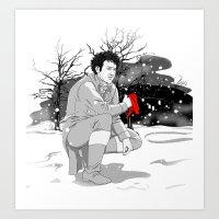 The Red Cap Art Print