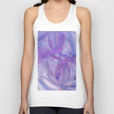 blue love Unisex Tank Top