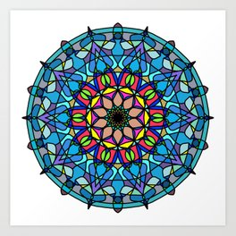 Mandala Curve beautiful. Art Print
