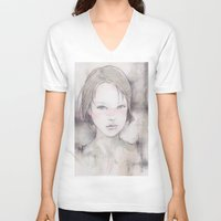 river song V-neck T-shirts featuring song by Shiro