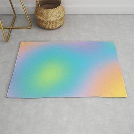 Pastel Rainbow Ombre Blur Design Rug