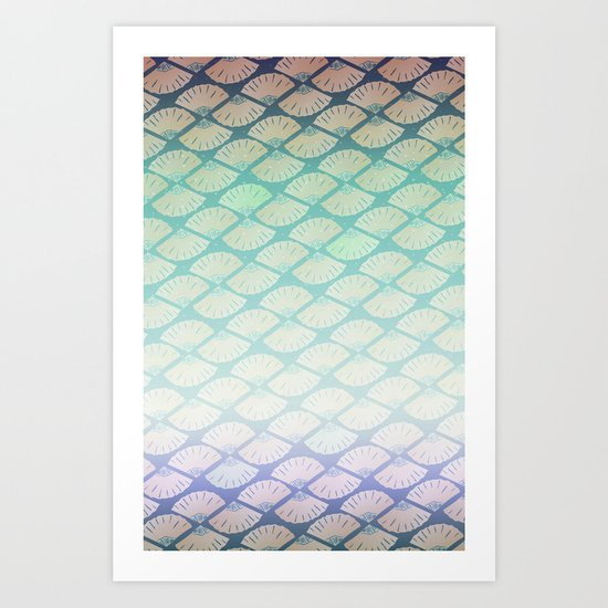 Wind Pattern Art Print