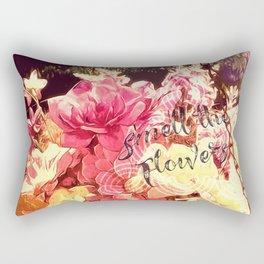 Smell the Flowers Rectangular Pillow