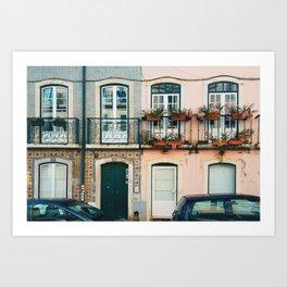 Streets of Lisbon, Portugal Art Print