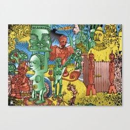 through open doors Canvas Print