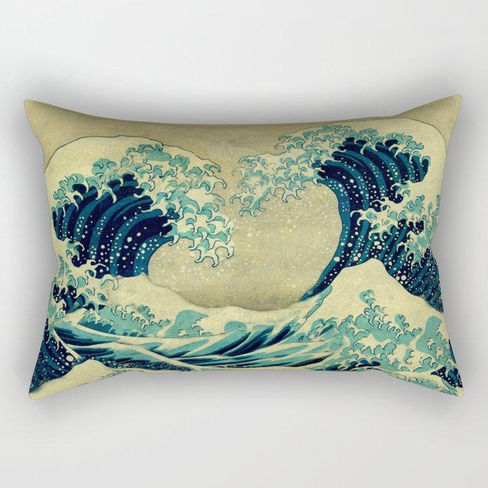 The Great Blue Embrace at Yama Rectangular Pillow