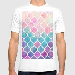 Rainbow Pastel Watercolor Moroccan Pattern T-shirt