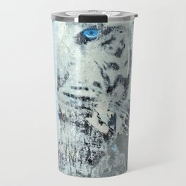 Wild Siberian Tiger Collage Travel Mug