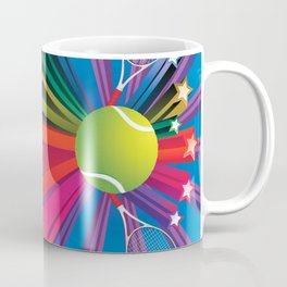 Tennis ball with rackets Coffee Mug