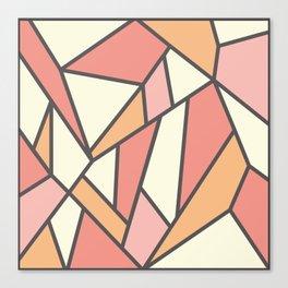 Geometric Colour Pattern V4 Canvas Print