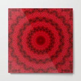 Scarlet bright kaleidoscope Metal Print