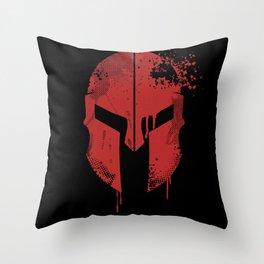 Spartan Helmet | Warrior Gift Idea Throw Pillow