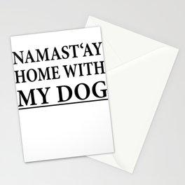 Funny Dog Shirt I Puppy Yoga Namastay Gift Stationery Cards