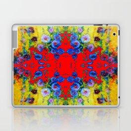WESTERN YELLOW & RED GARDEN GOLD BLUE FLOWERS Laptop & iPad Skin