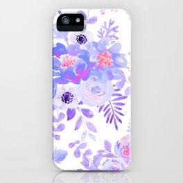 Lilac lavender violet pink watercolor elegant floral iPhone Case