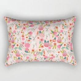 Bedlington Terrier floral dog breed gifts for unique pet lover pink Rectangular Pillow