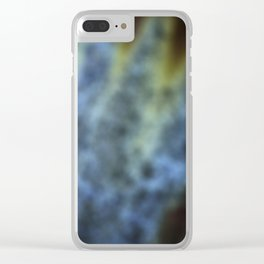 Blue and rust blur Clear iPhone Case