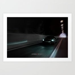 """The Eater of Dreams"" Nissan GT-R R35 Art Print"
