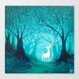 White Stag Canvas Print
