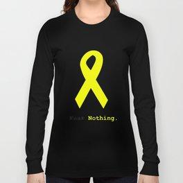 Fear Nothing: Yellow Awareness Ribbon Long Sleeve T-shirt