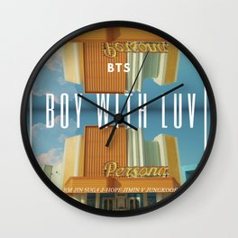 bts/boy with luv Wall Clock