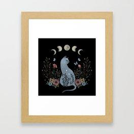 Cat on the Hill Framed Art Print