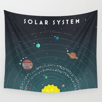 solar system Wall Tapestries featuring Solar System by scarriebarrie