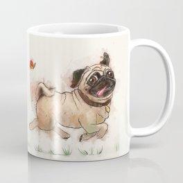The Furminator pug watercolor like art Coffee Mug