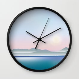 Moon over Puget Sound Wall Clock