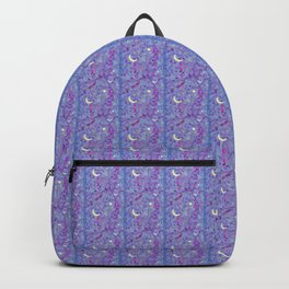 Crescent Moon and Hot Pink Stars Backpack