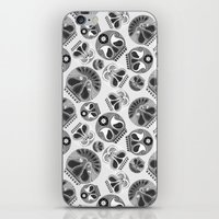 sugar skulls iPhone & iPod Skins featuring SUGAR SKULLS by Kiley Victoria