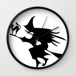claws out, witches it's halloween  Wall Clock