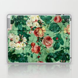 Floral and Marble Texture Laptop & iPad Skin