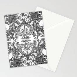 Ornament - Tree of Life - Rebirth - Mehndi Love - White #3 Stationery Cards