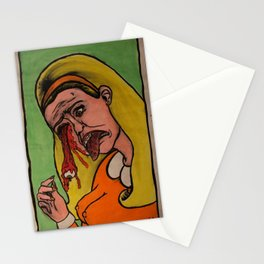 Then her eyeball fell out. Stationery Cards