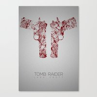 tomb raider Canvas Prints featuring Tomb Raider by Rizwanb