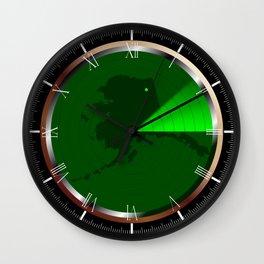 Radar on Alaska Wall Clock