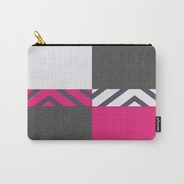 Monochrome Pink Tiles Carry-All Pouch