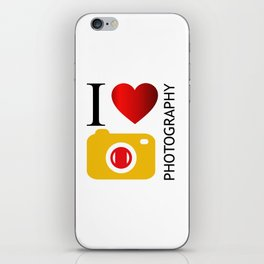 I love photography- Photography lovers passion- yellow camera iPhone Skin