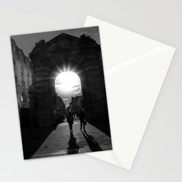 Rays of Sunlight through Roman Arches black and white photograph Stationery Cards