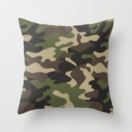 Military camouflage Throw Pillow