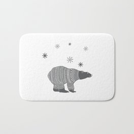 Polar bear - Animal watercolor illustration Bath Mat