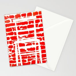 White Chair Red Brick Wall Stationery Cards
