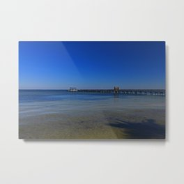 The Pier at Bokeelia II Metal Print