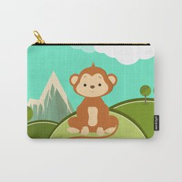 Monkey , nursery decor Carry-All Pouch