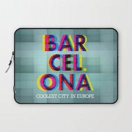 Barcelona Glitch Psychedelic Laptop Sleeve